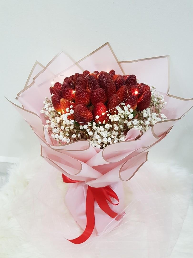 Strawberries Bouquet Gardening Flowers Bouquets On Carousell