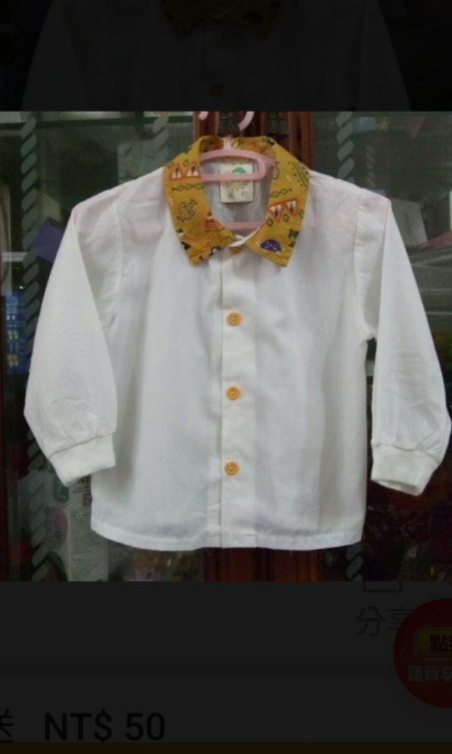 免費贈送 童裝 白色 長袖 上衣#剁手價