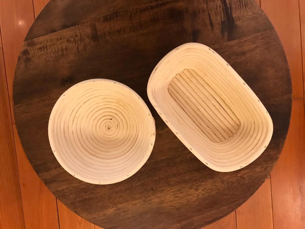 歐式麵包 發酵藤籃 鄉村麵包 圓形藤碗 麵包籃 籐編籃 二手