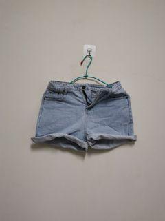 牛仔短褲 M尺寸 褲管可反折