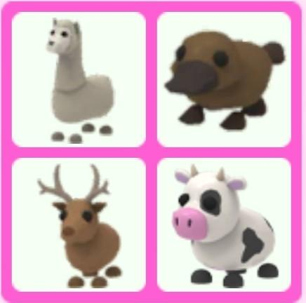 A Set Of Normal Rare Pets For Sale In Adopt Me Toys Games Video Gaming In Game Products On Carousell