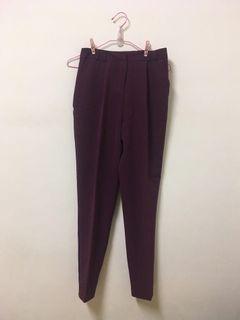 英國ASOS 復古梅紫 高腰西裝褲/長褲