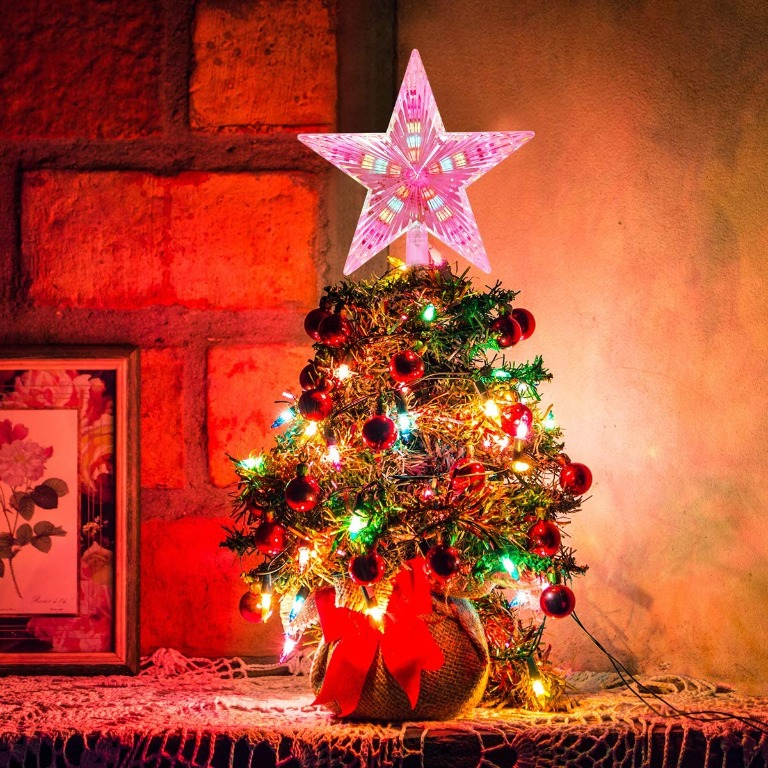 Asperx Christmas Tree Topper Star Multi Colour Flash Star Decoration Light Battery Operated Tree Topper For Christmas 22cm Preloved Electronics Others On Carousell