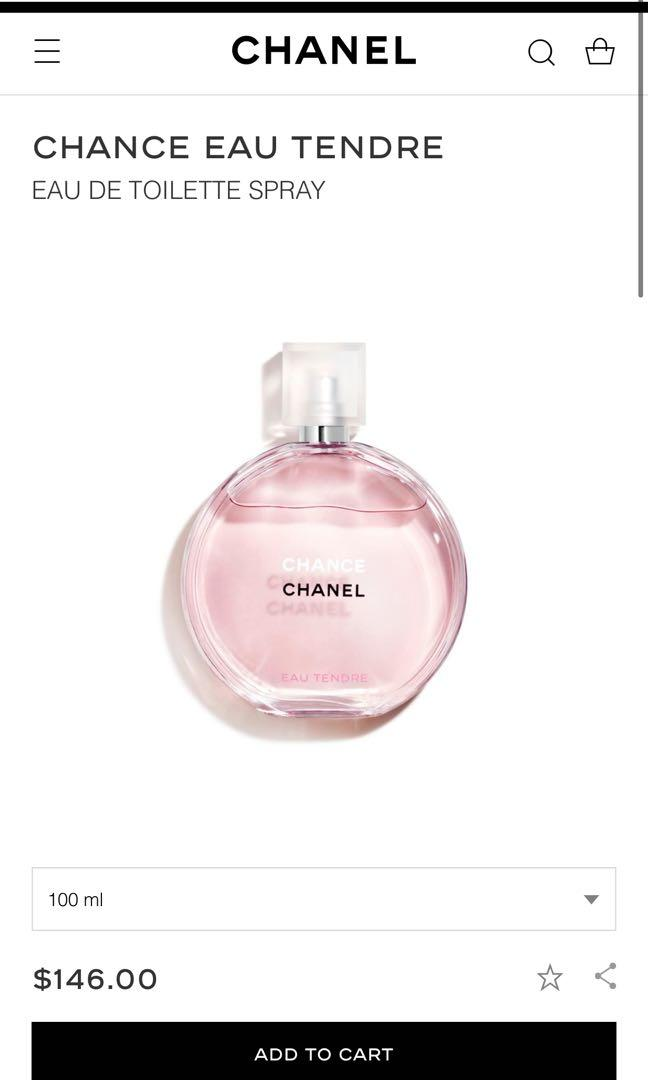 Authentic Chanel Chance EDT 100ml