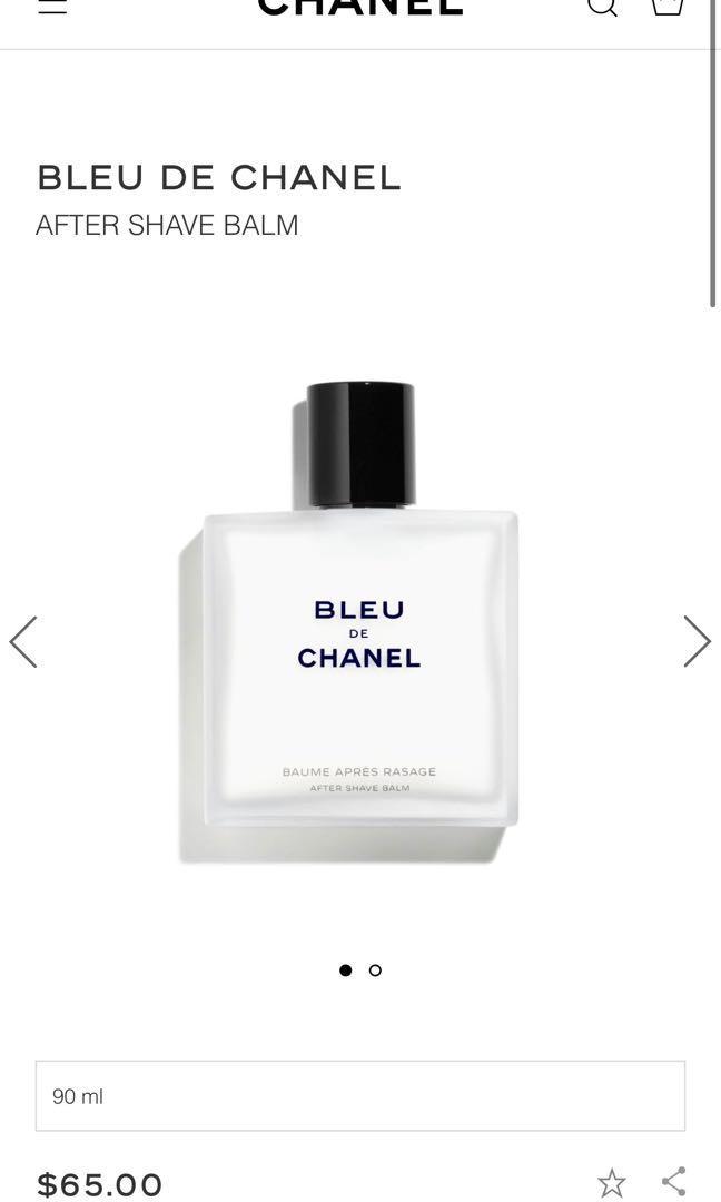 Authentic mens Bleu de Chanel Aftershave Balm 90ml