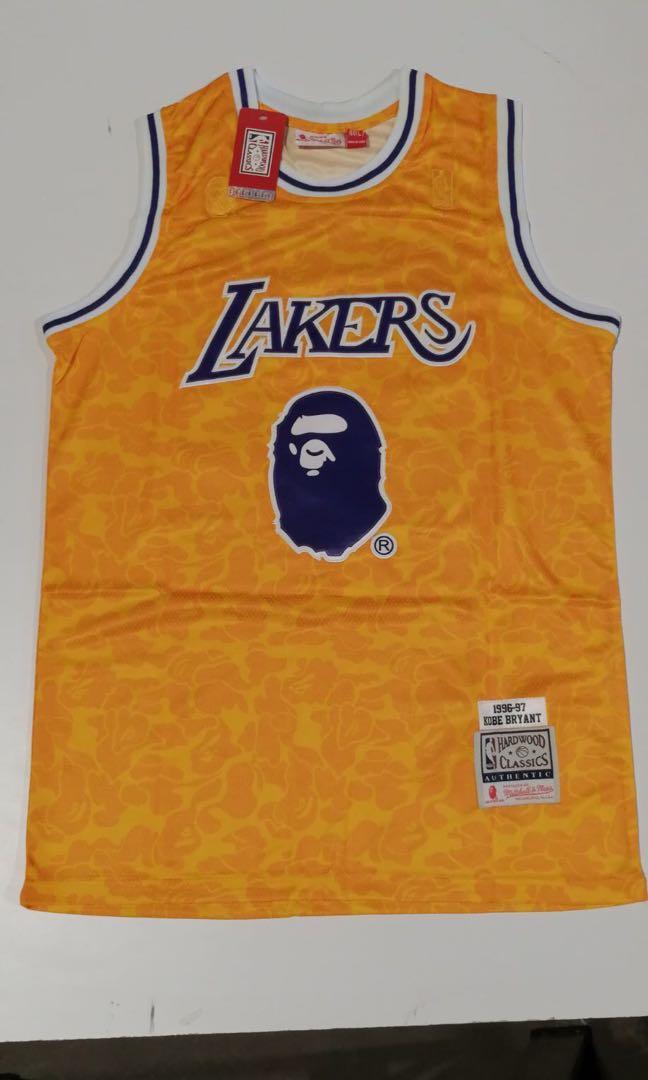 Bape Kobe Bryant Lakers jersey