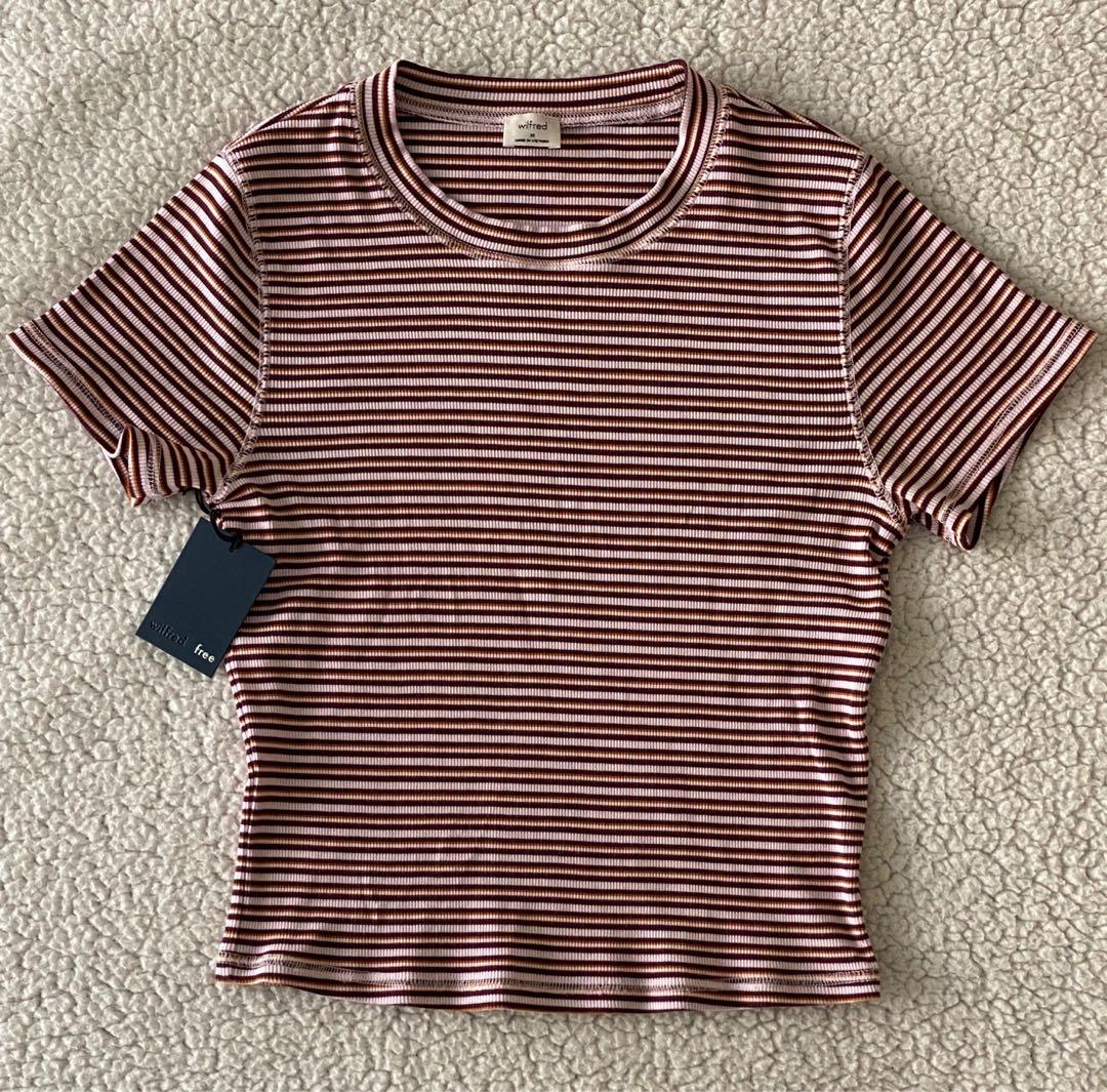 "BNWT ARITZIA WILFRED FREE ""HELAINE"" STRIPED T-SHIRT"