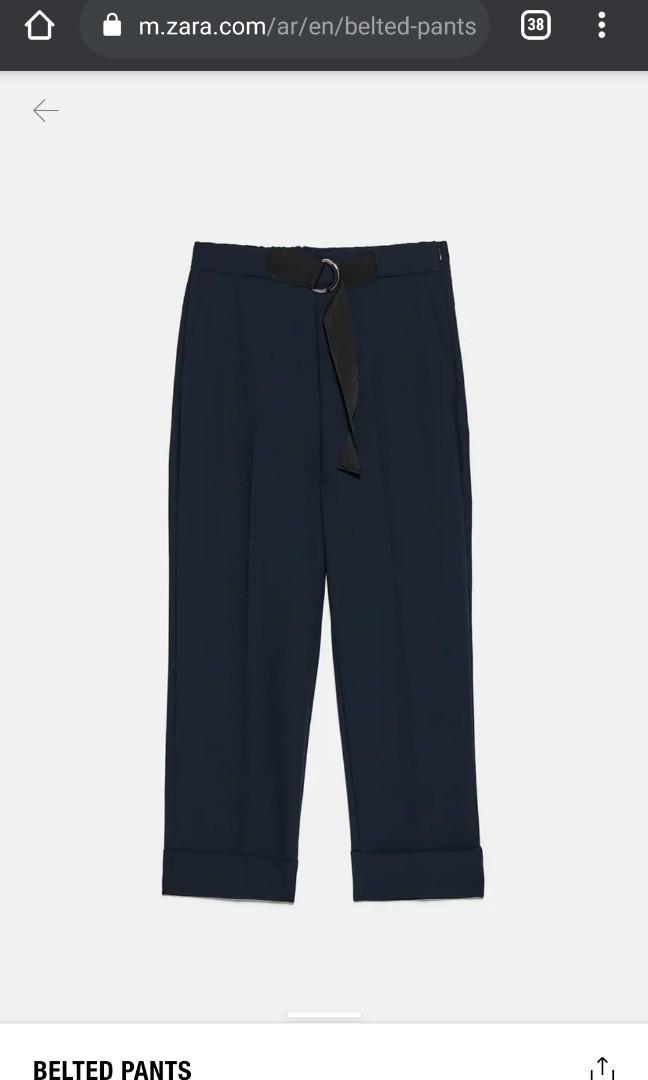 BNWT Zara Belted Trouser