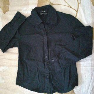 Bossini黑色長袖襯衫 香港製 #剁手價