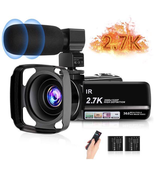 Brand new  2.7K Video Camera HD Vlogging Camera Camcorder
