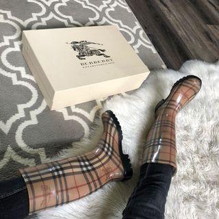 Burberry rain boots Haymarket 36 / 6