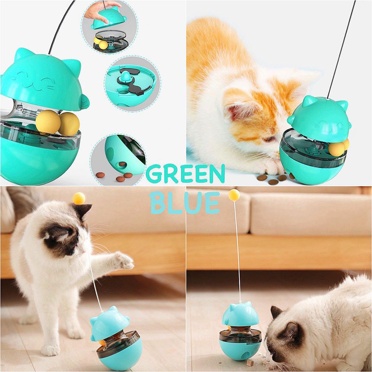 Cat Tumble Toy Food Dispenser With Balls Xx Pet Supplies For Cats Cat Accessories On Carousell