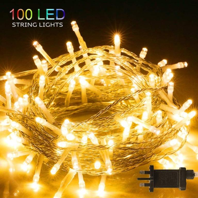 Cc1 100 Led Fairy Lights Plug In Bighouse 10m 32 8ft 8 Lighting Modes Waterproof Outdoor Led String Lights For Bedroom Garden Wedding Curtain Christmas Decoration Warm White Electronics Others On Carousell