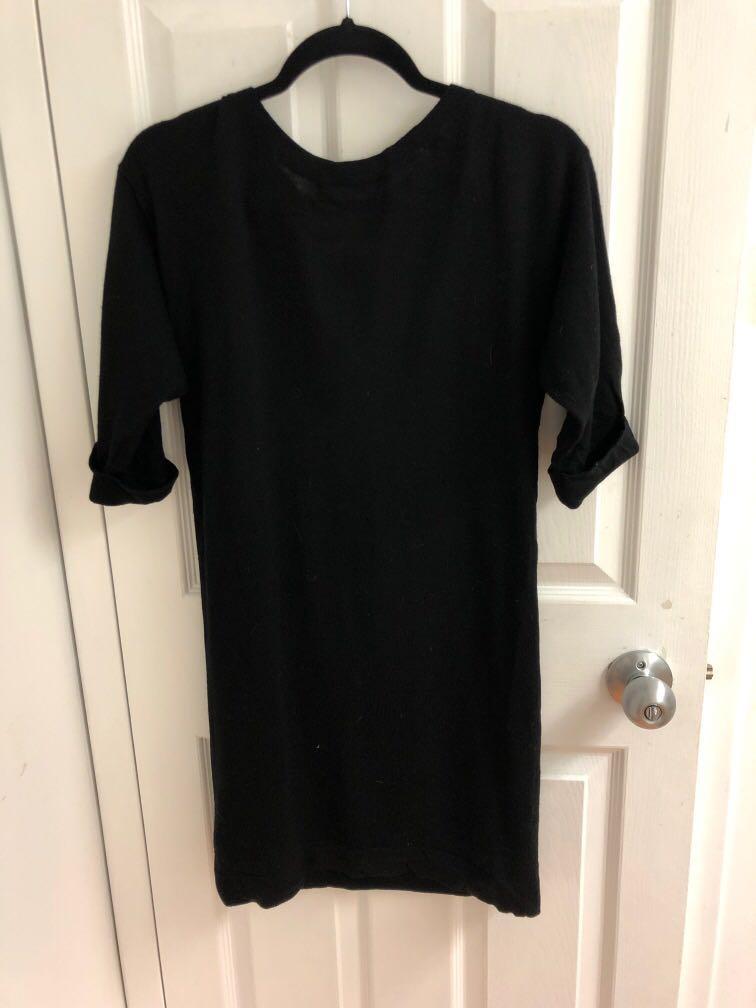 Club Monaco Catherine Sweater Dress, Black, size XS