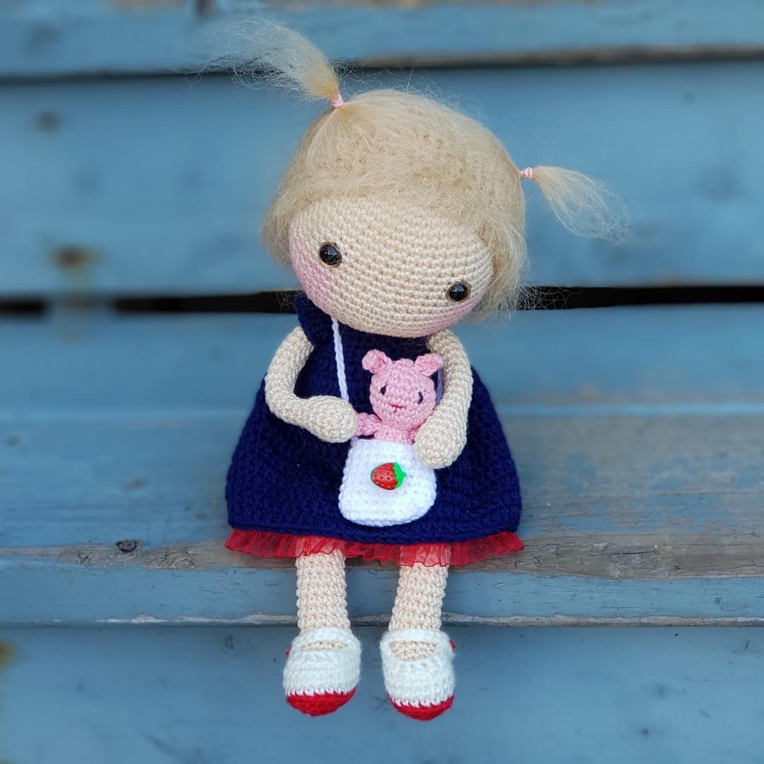 Crochet Hikaru Doll - Waldorf Inspired Doll - Ready to ship