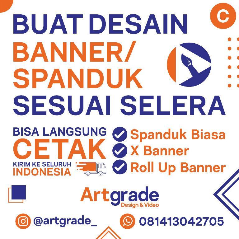 Desain Banner / Spanduk Paket C