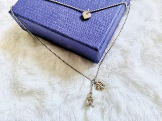 Eiffle Tower and Crown Necklace