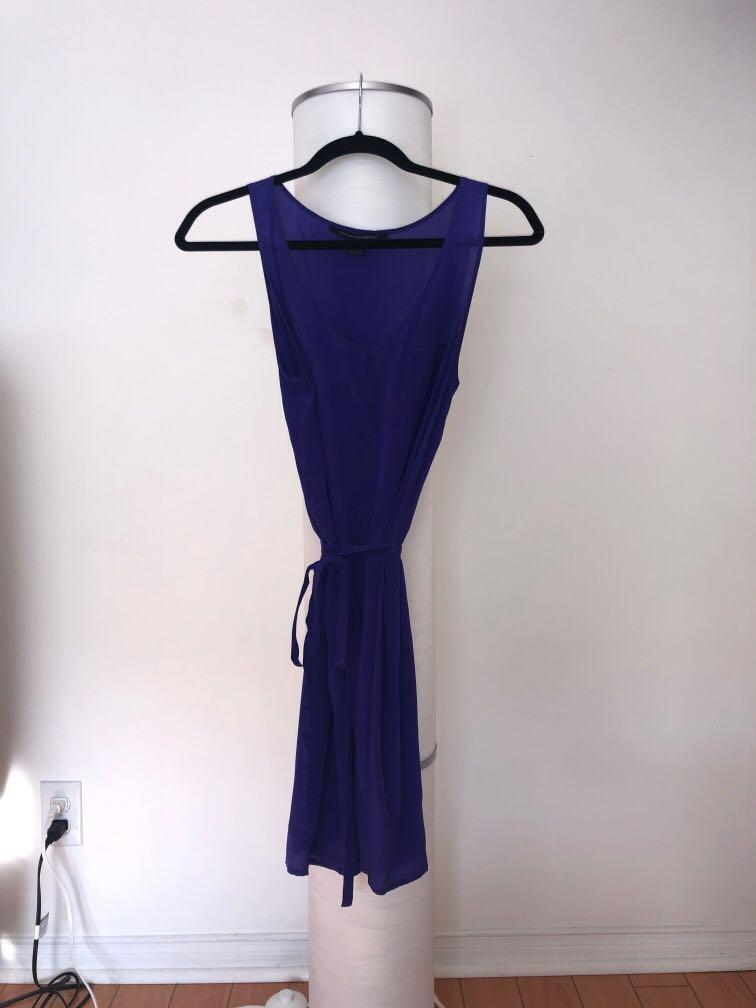 FCUK French Connection Dress, 100% silk, Midnight Purple, size 6 (S)