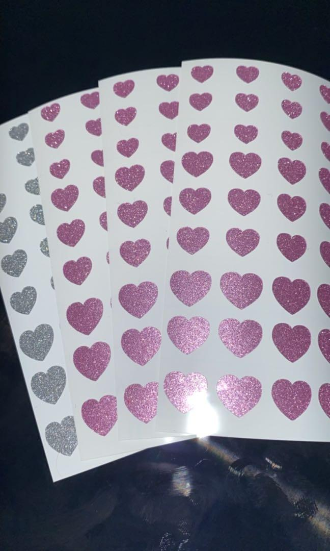 Heart nail stickers