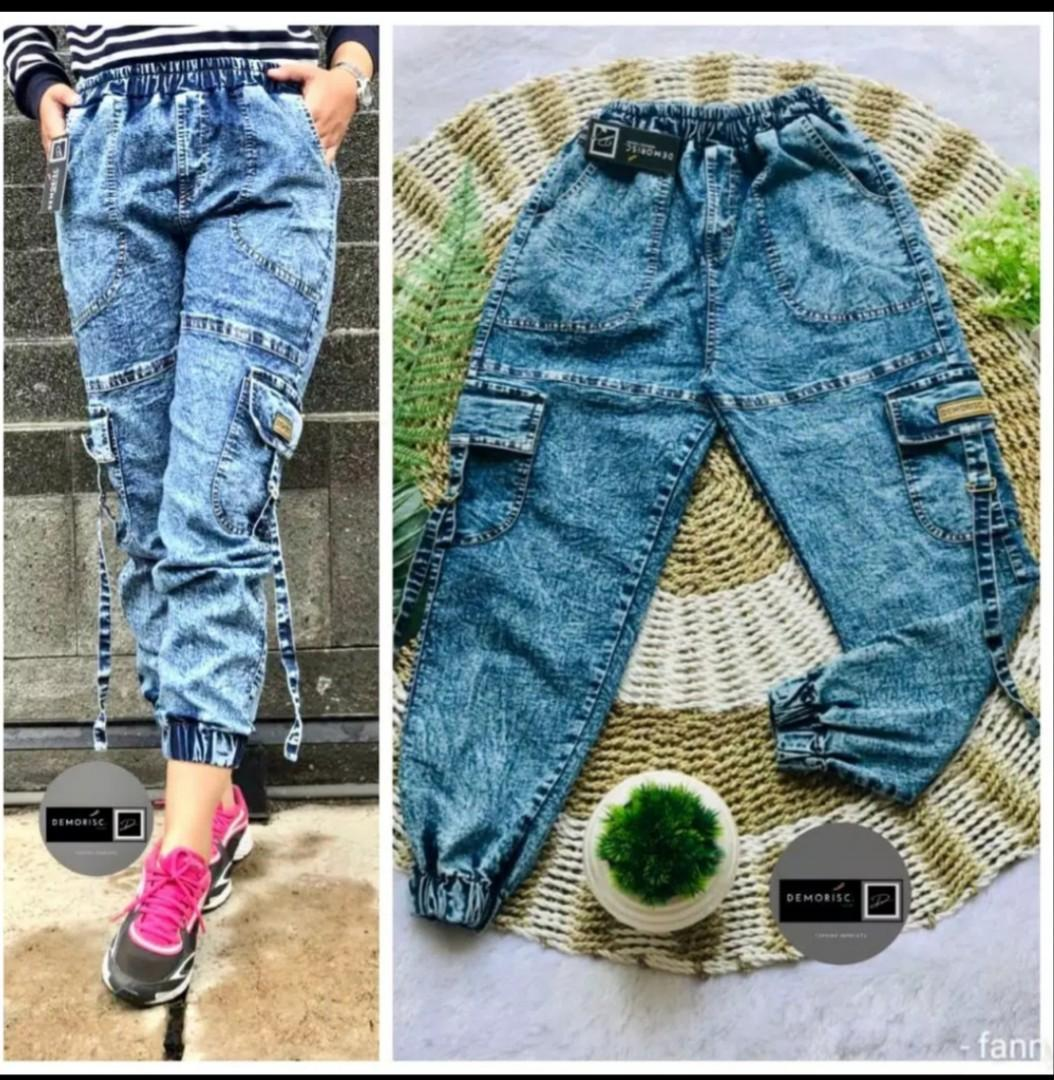Joger jeans 👖 Rp140.000. Fit xl pinggang karet 😉☺️