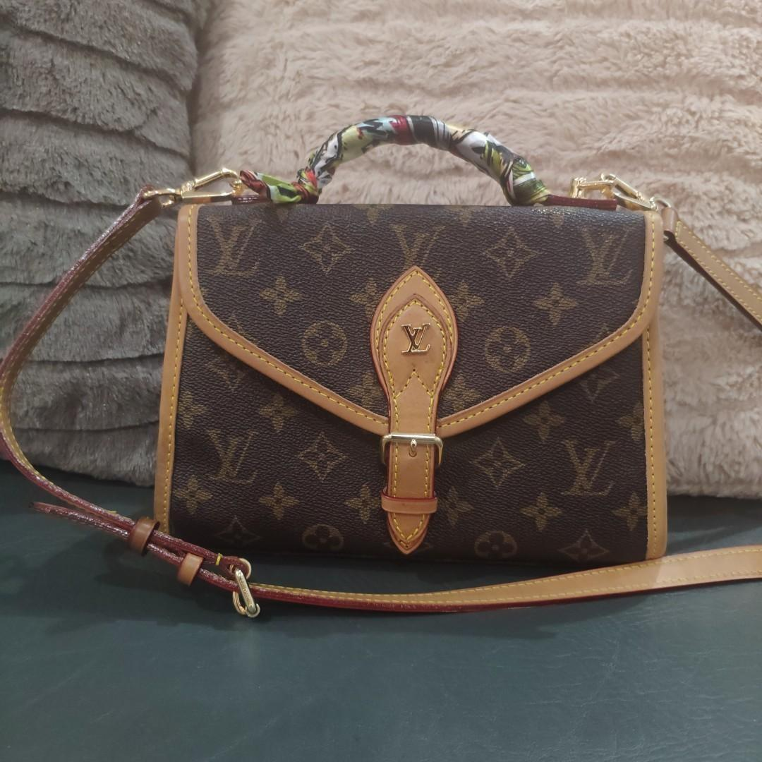 LV envelope top handle mono bag