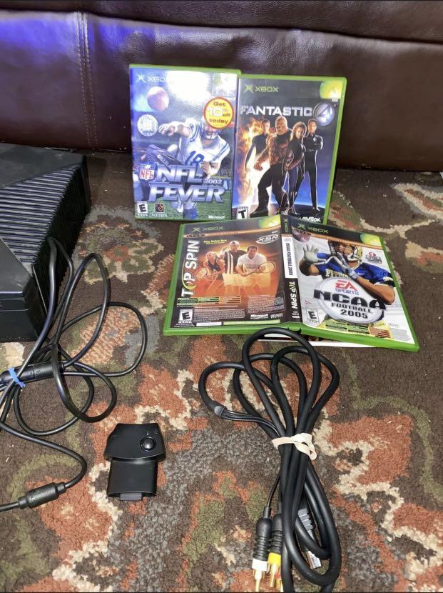 Microsoft Original Xbox Video Game System Console Bundle with 2 Controllers