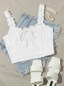 Mini cropped white shirt