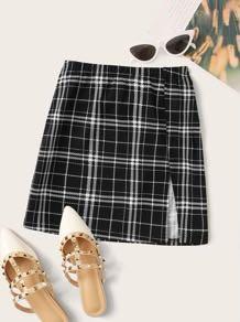 Mini plaid skirt