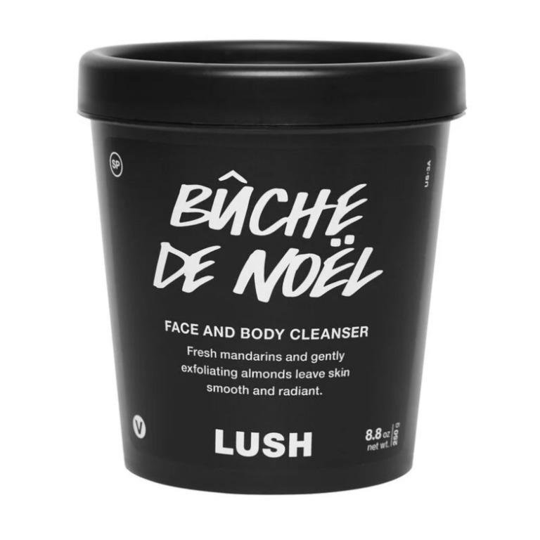 New Large Lush Cosmetics Bûche de Noël Cleanser Scrub