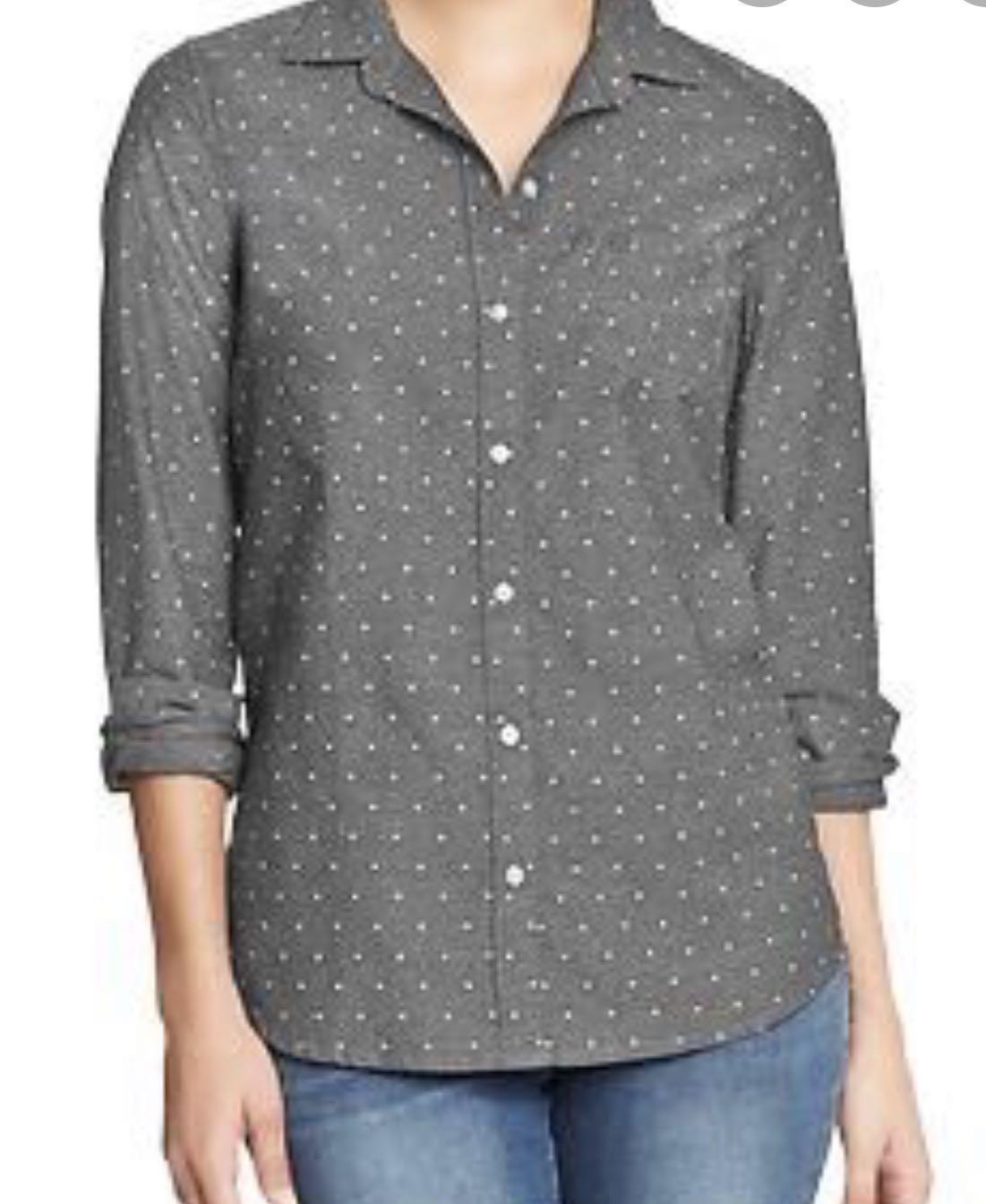 Old Navy Classic Polka Dot Oxford Shirt