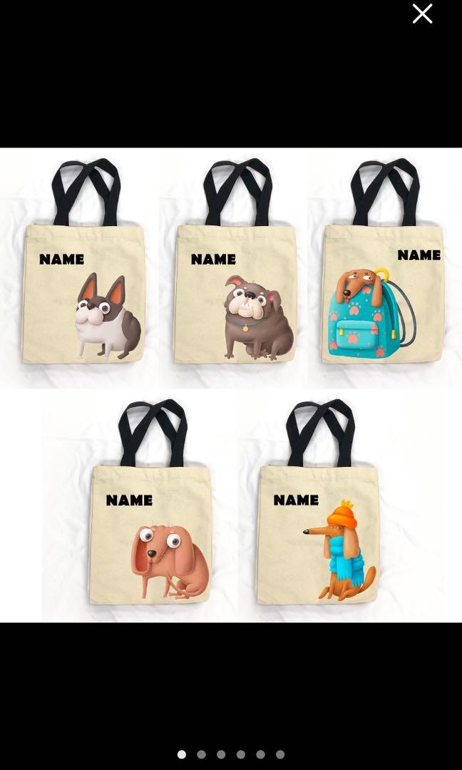 Personalized Dog Tote Bags