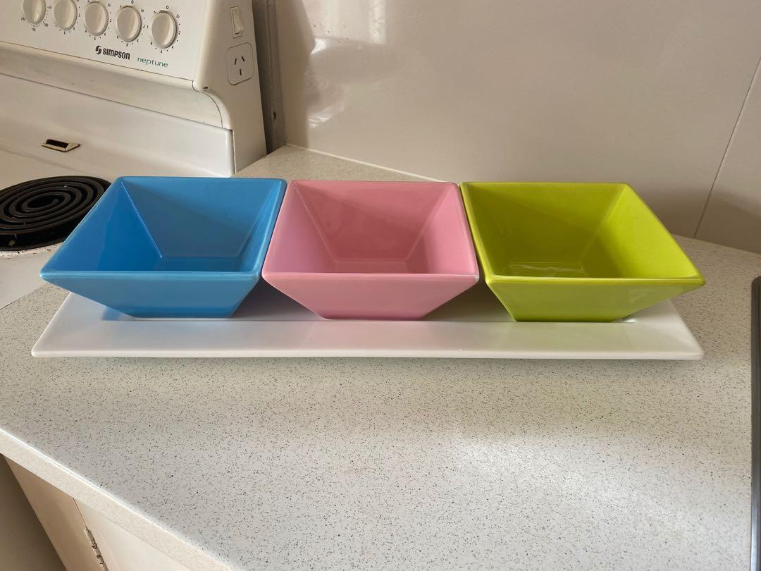 Platter with Square Bowls