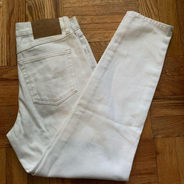 Pull and Bear White Mom Jeans