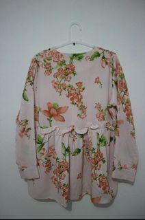 #Special1010 Blouse Motif Lengan Panjang Wanita/Cewek