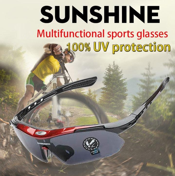 【A85】Sports glasses/ Sunglasses/ Sun glasses/ Goggles/ UV protection/ Bicycle glasses/ Anti-slip motorcycle glasses/ Motorcycle windproof