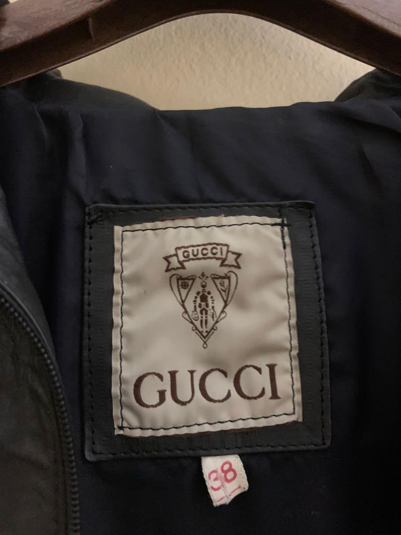 Vintage Gucci leather jacket