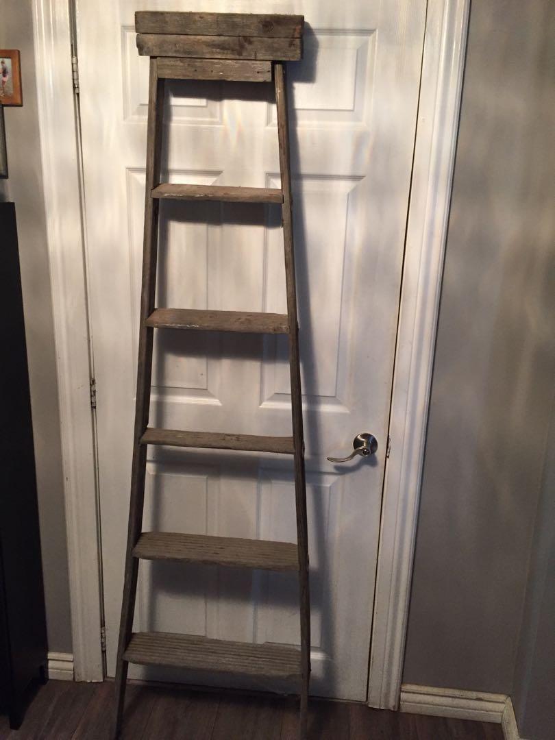 Vintage wooden blanket ladder