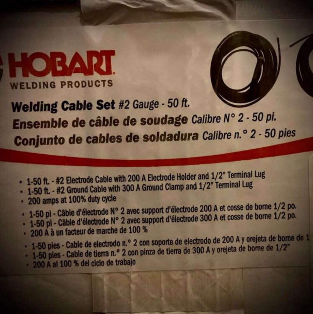 Welding cable set 50 ft