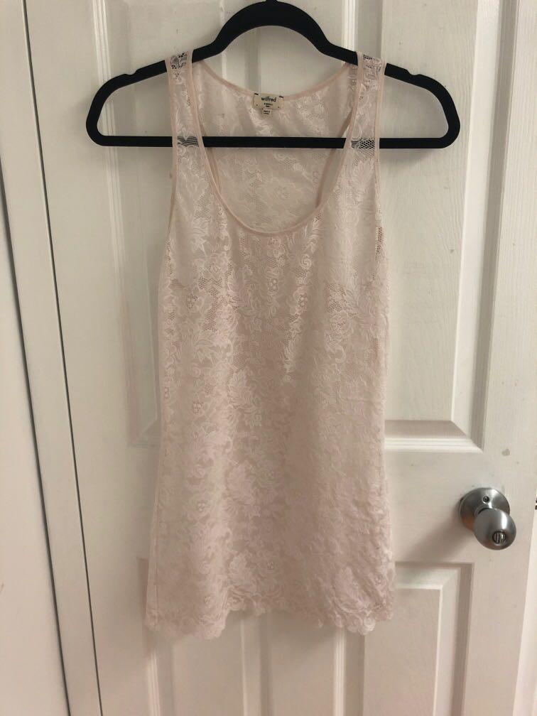Wilfred Racerback Lace Top, blush, S