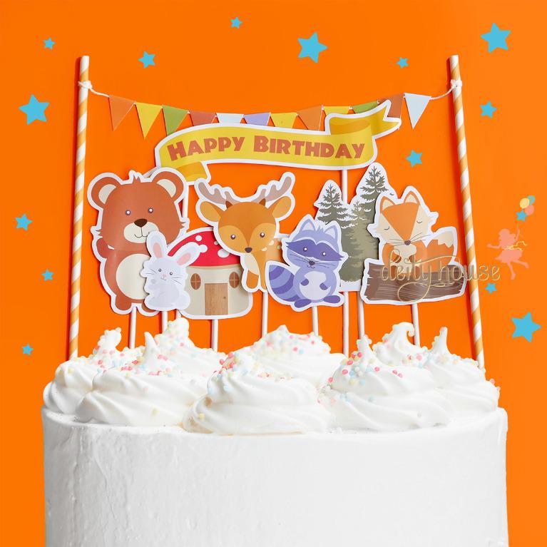 Woodland Animal Cupcake Topper