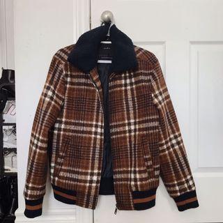 ZARA plaid jacket/coat