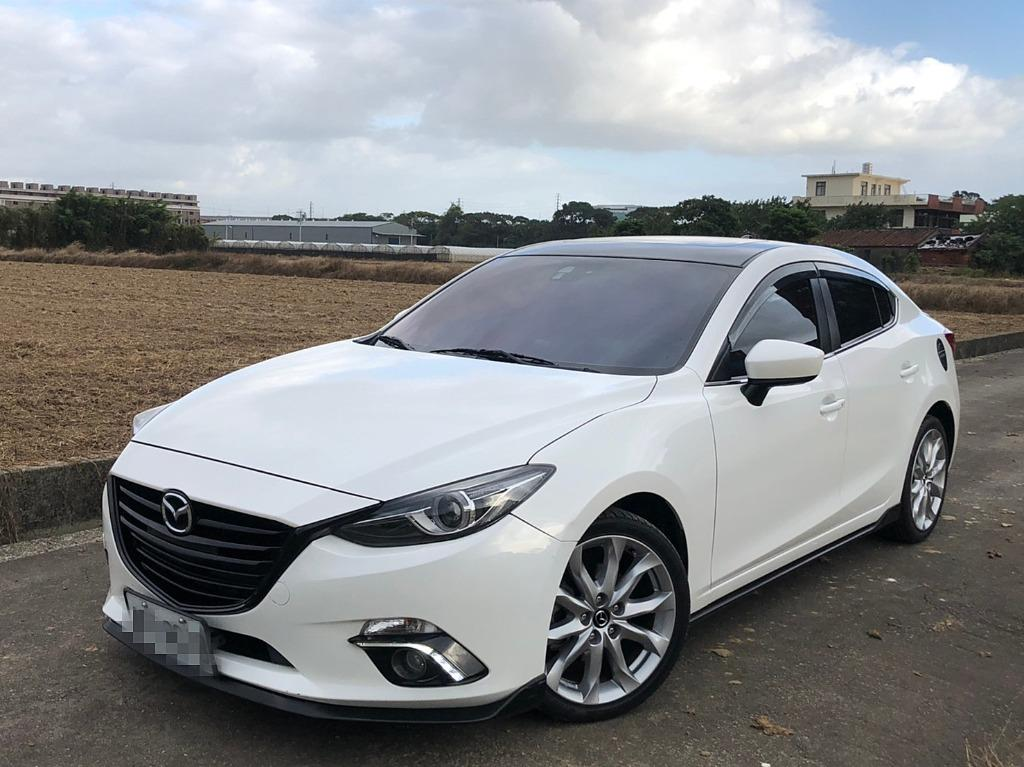 2016年Mazda3 頂級款 白色 外觀基本改 有導航 原漆原版