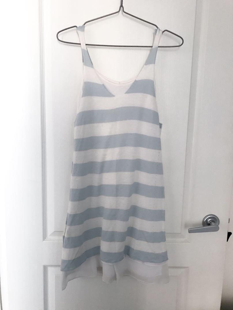 2 layered stripe pattern dress