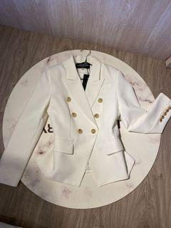 白色 西裝外套 修身款 m號