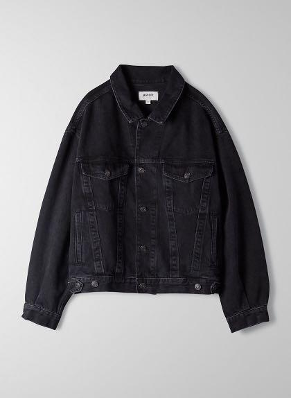 Agolde charli jacket, BLK, large, oversized