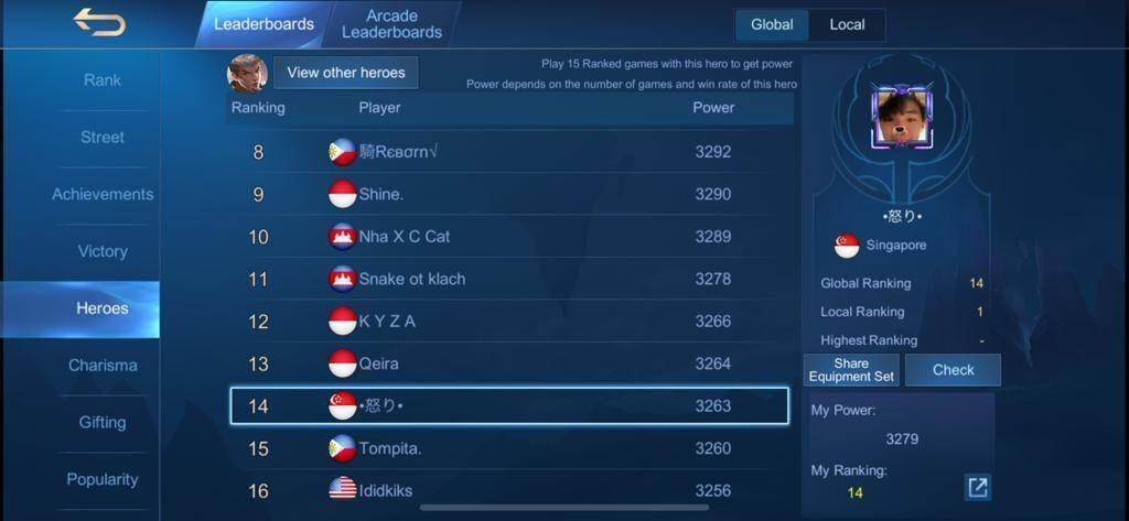 akun mobile legend mantan top 10 global chou