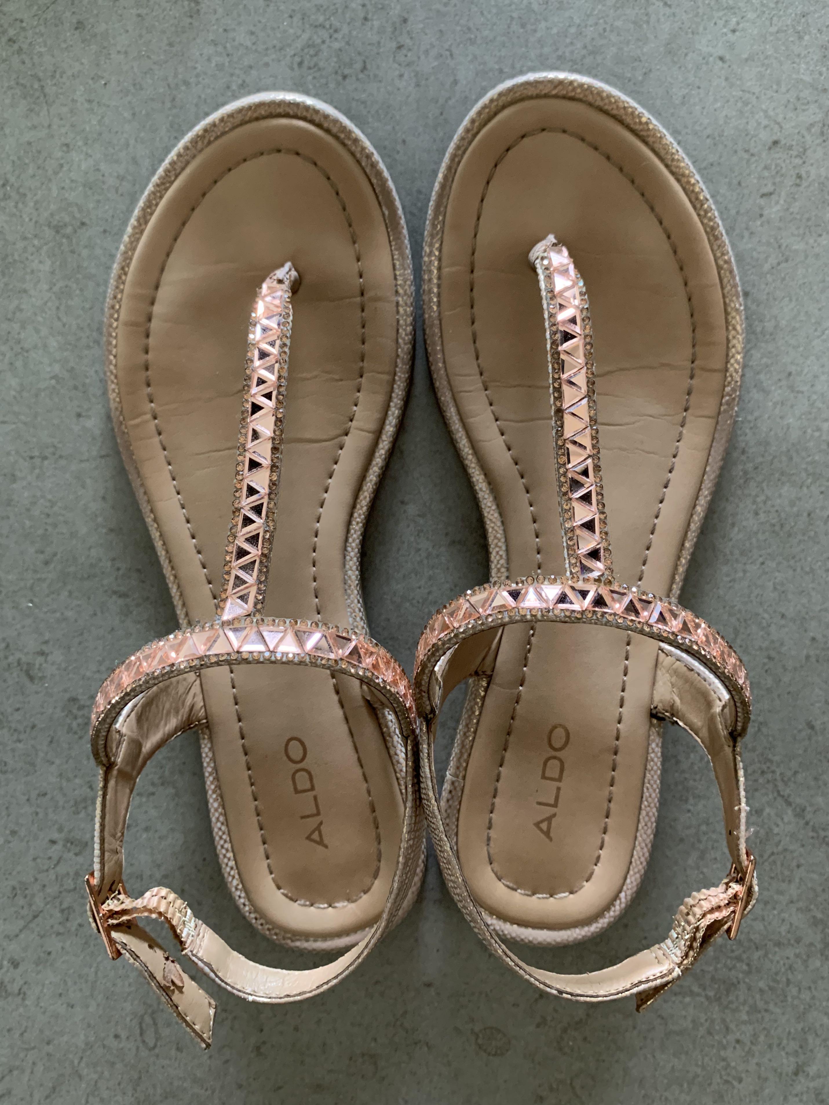Aldo sparkly peach sandals, Women's