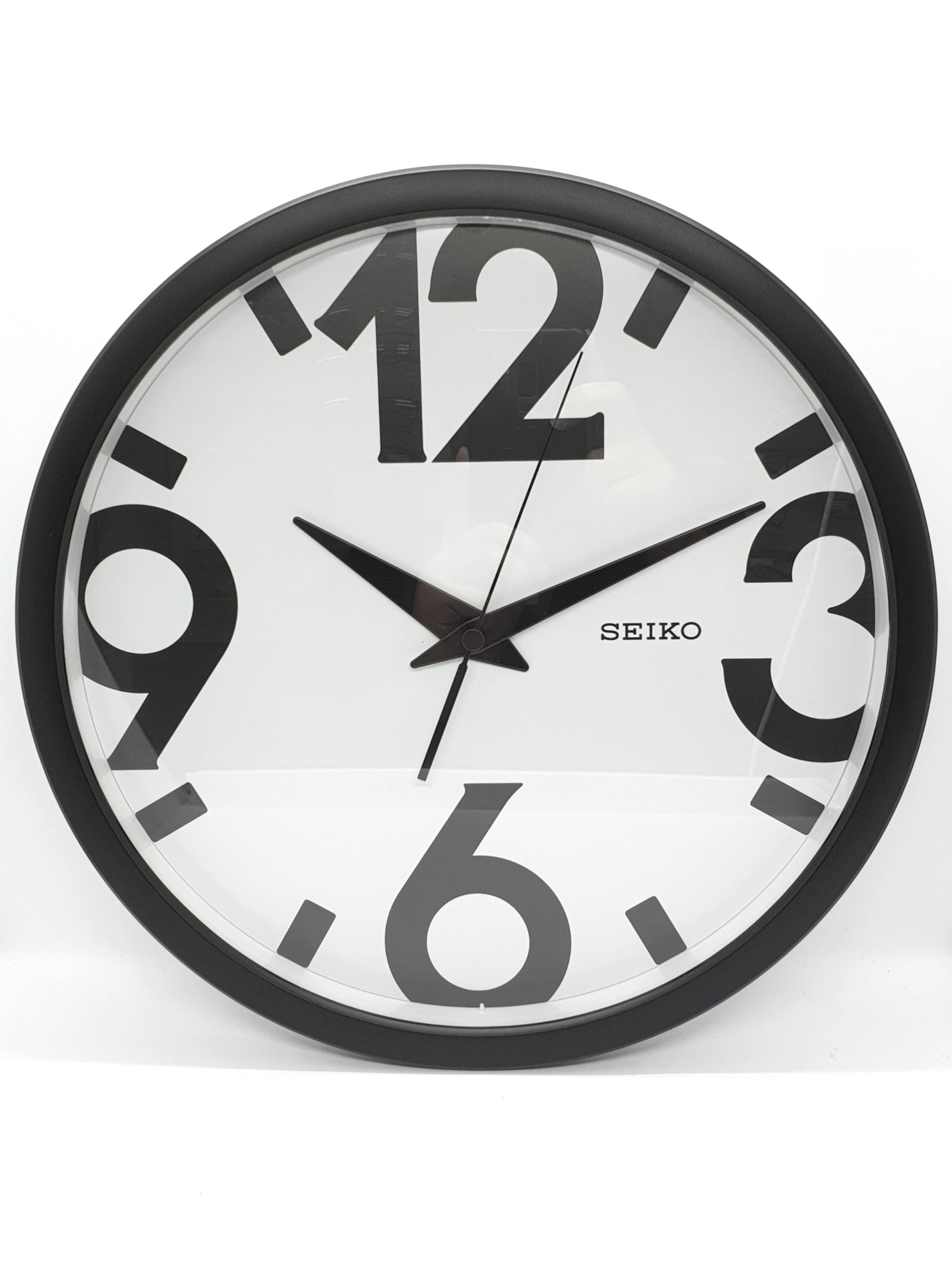 Bn Seiko Contemporary Black And White Wall Clock Furniture Home Decor Others On Carousell