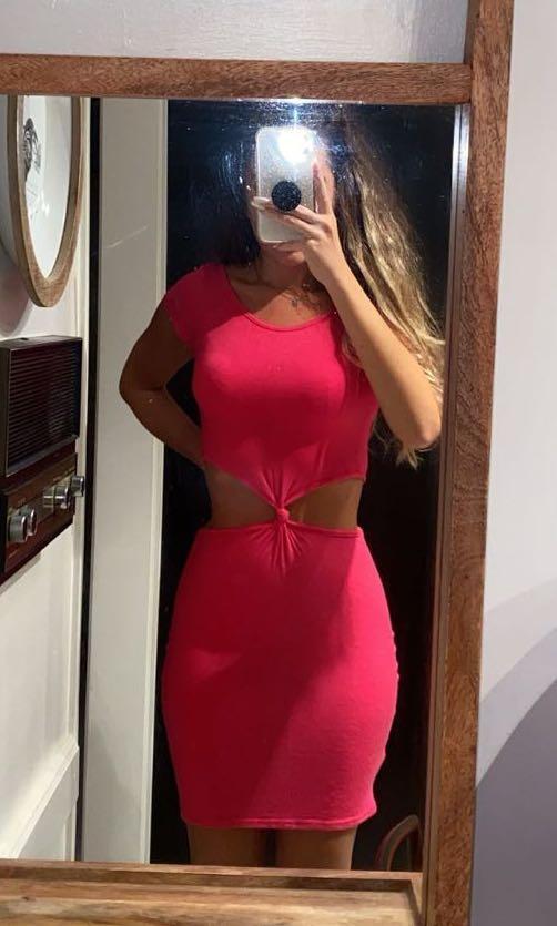 Boohoo Hot Pink Dress XS/S