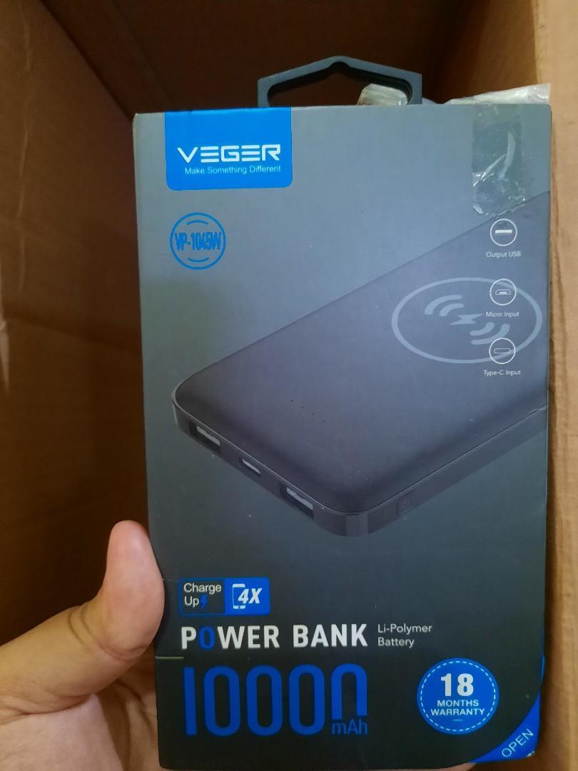 #oktoberovo [Cek foto ke 4 & 5 ] Powerbank veger 10000 mah